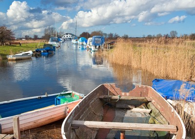 Martham Staithe On The Norfolk Broads