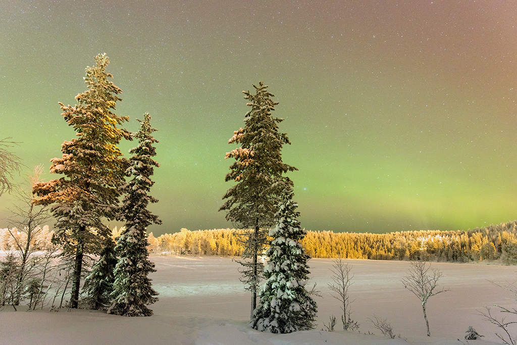 Northern Lights at Ruka in Finland
