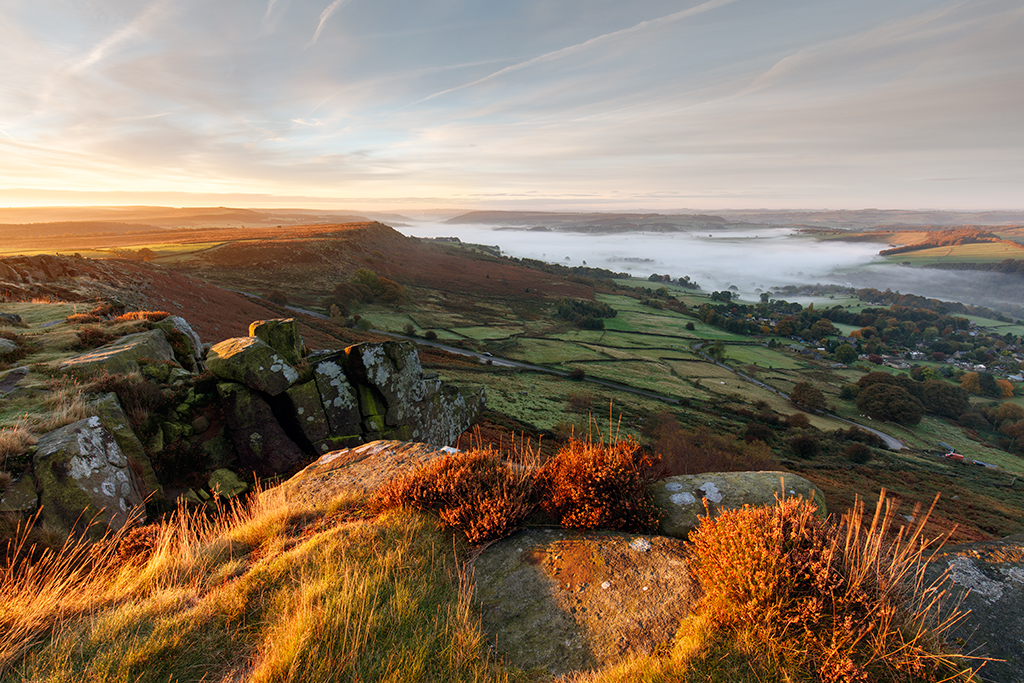 Curbar Edge in the Peak District